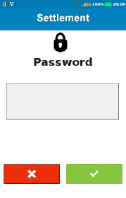 settlement password